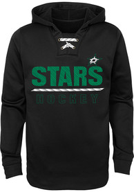Dallas Stars Youth Lace Em Up Hooded Sweatshirt - Black