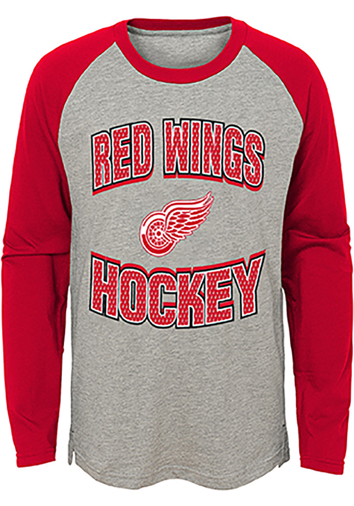 Detroit Red Wings Youth Assist T-Shirt - Grey