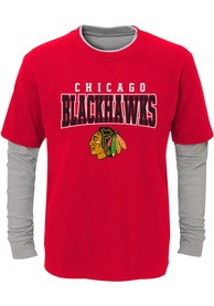 Chicago Blackhawks Youth Playmaker T-Shirt - Red