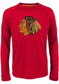 Chicago Blackhawks Youth Grinder T-Shirt - Red
