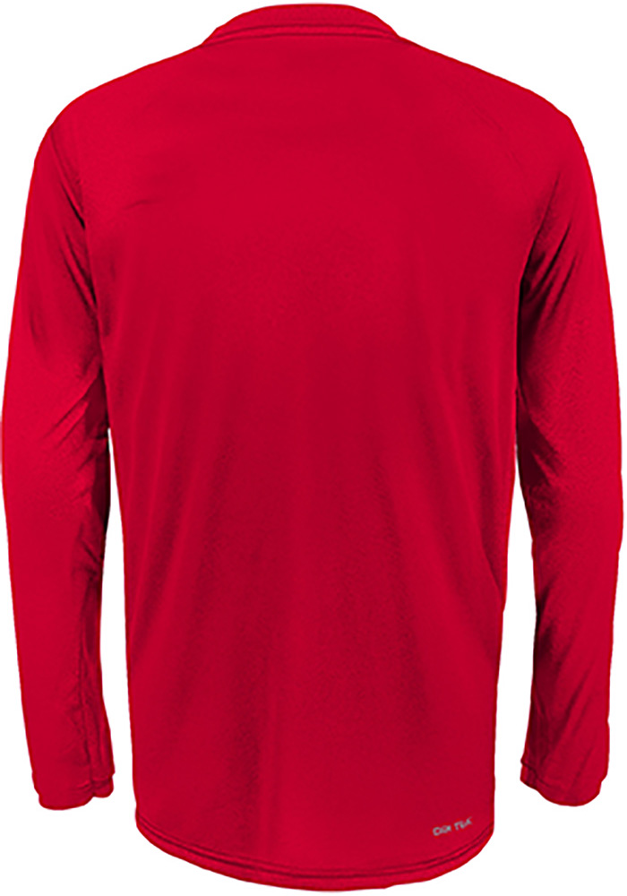 Chicago Blackhawks Youth Red Grinder Long Sleeve T-Shirt - Image 2