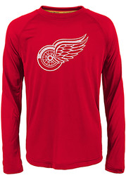 Detroit Red Wings Youth Red Grinder Long Sleeve T-Shirt