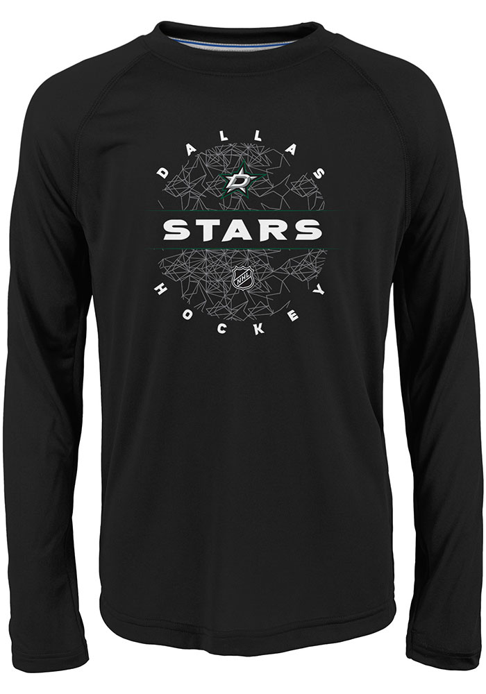 Dallas Stars Youth Black Power Play Long Sleeve T-Shirt - Image 1
