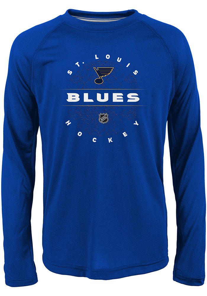 St Louis Blues Youth Blue Power Play Long Sleeve T-Shirt - Image 1