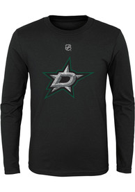 Dallas Stars Youth Distressed Logo T-Shirt - Black
