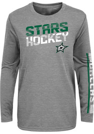 Dallas Stars Youth Break Lines T-Shirt - Grey