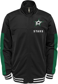 Dallas Stars Youth Goal Line Track Jacket - Black