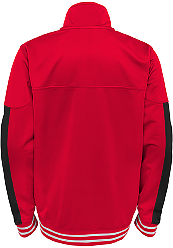 Detroit Red Wings Youth Red Goal Line Long Sleeve Track Jacket - Image 2