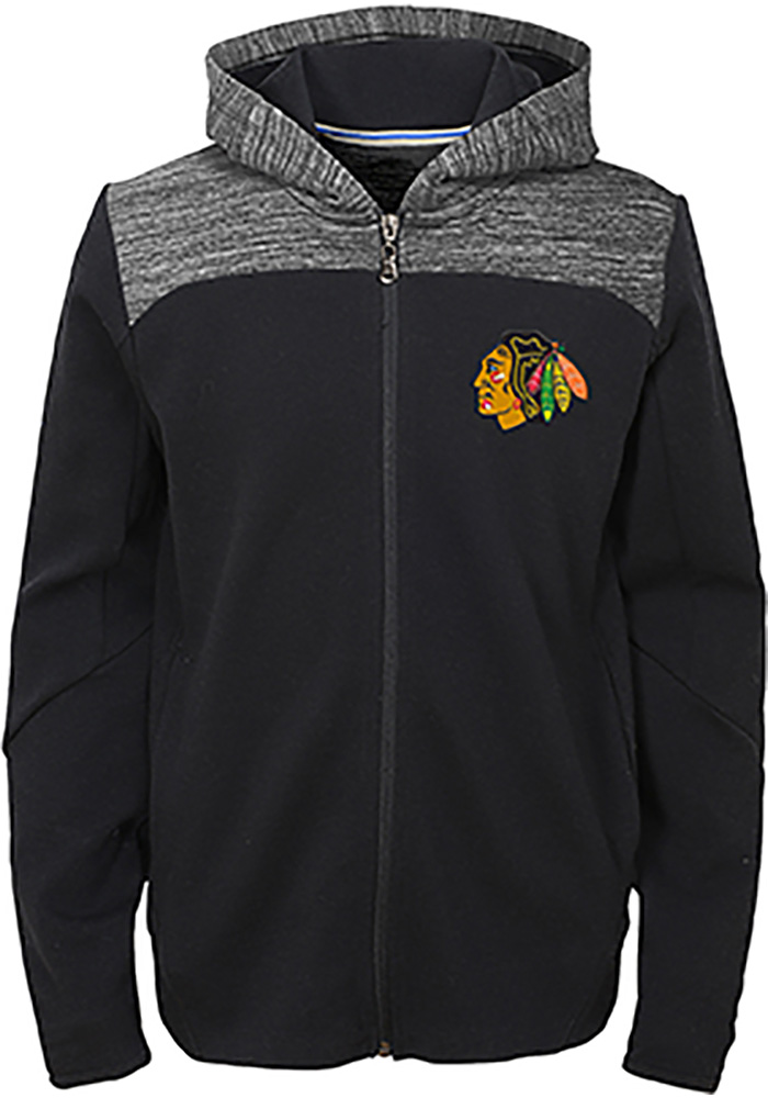 Chicago Blackhawks Youth Red Centripedal Long Sleeve Full Zip Jacket - Image 1