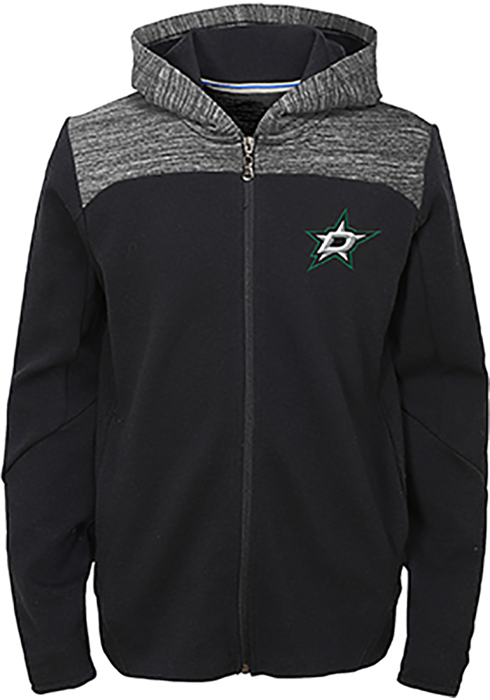 Dallas Stars Youth Black Centripedal Long Sleeve Full Zip Jacket - Image 1