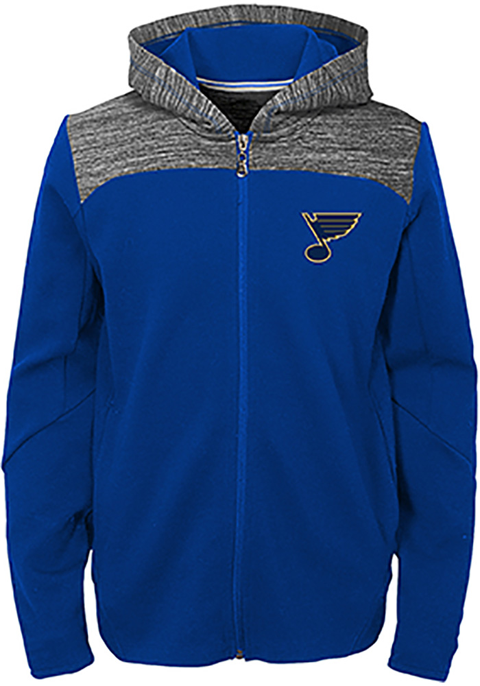 St Louis Blues Youth Blue Centripedal Long Sleeve Full Zip Jacket - Image 1