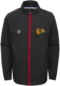 Chicago Blackhawks Youth Prevail Light Weight Jacket - Black