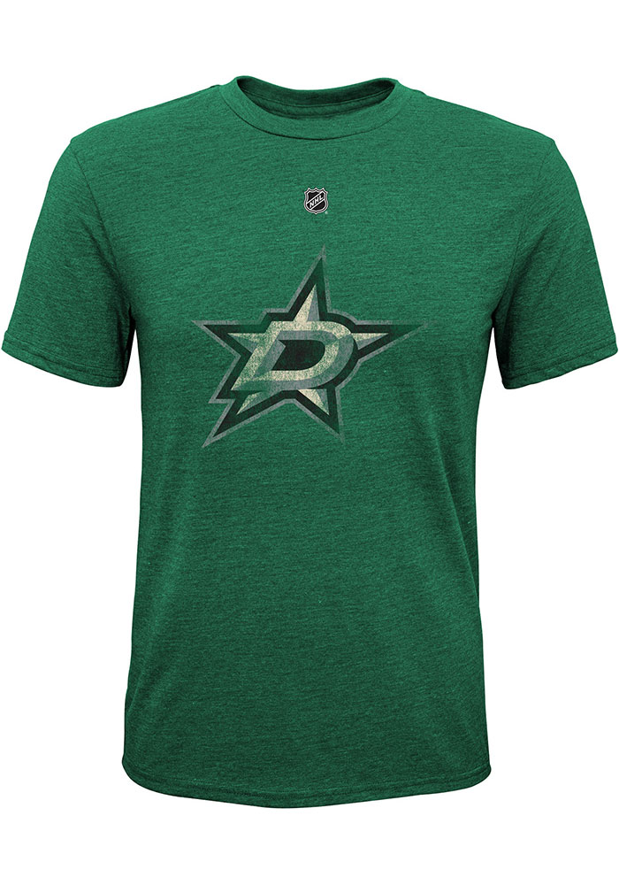 Dallas Stars Youth Green Pioneer Retro Short Sleeve Fashion T-Shirt - Image 1