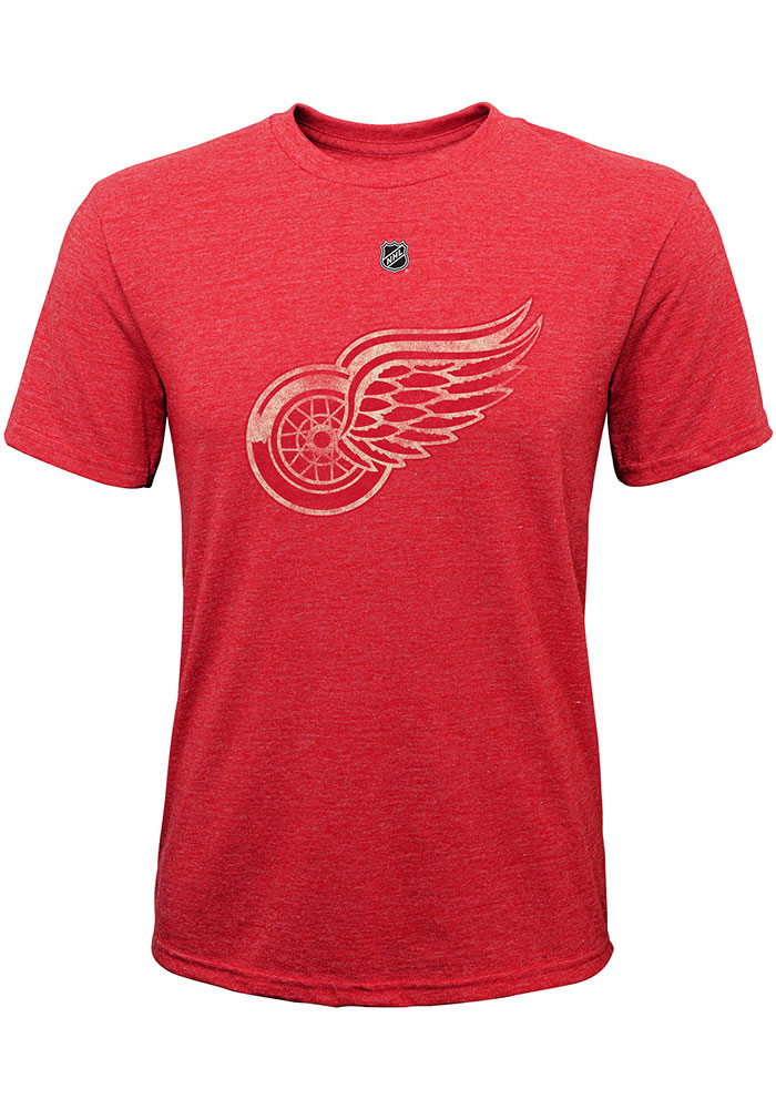Detroit Red Wings Youth Red Pioneer Retro Short Sleeve Fashion T-Shirt - Image 1