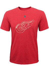 Detroit Red Wings Youth Pioneer Retro Fashion T-Shirt - Red