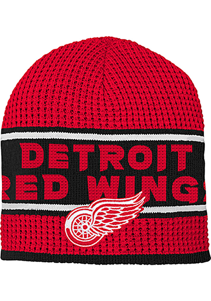 new arrival 69b04 eddf4 ... coupon code for detroit red wings red enforcer youth knit hat f6e19  dbc04