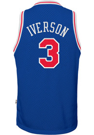 1a1eef621b8 Allen Iverson Outer Stuff Philadelphia 76ers Youth Blue 96-97 Road Jersey