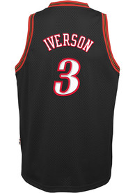 27b1fde8bc3 Allen Iverson Outer Stuff Philadelphia 76ers Youth Black 00-01 Road Jersey