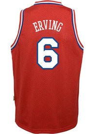 4dac0ae3161 Julius Erving Outer Stuff Philadelphia 76ers Youth Red 82-83 Road Jersey