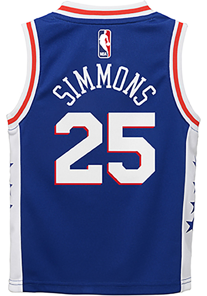 Ben Simmons Outer Stuff Philadelphia 76ers Toddler Blue 2018 Road Jersey Basketball Jersey - Image 1