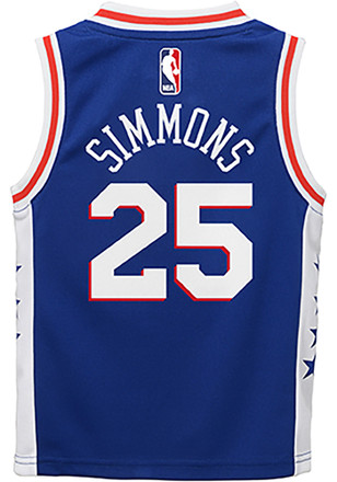 9eb091d172f Ben Simmons Outer Stuff Philadelphia 76ers Toddler Blue 2018 Road  Basketball Jersey