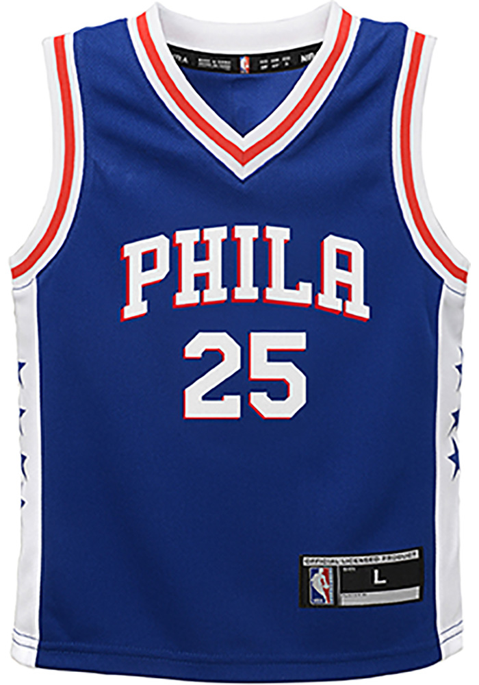 Ben Simmons Outer Stuff Philadelphia 76ers Toddler Blue 2018 Road Jersey Basketball Jersey - Image 2