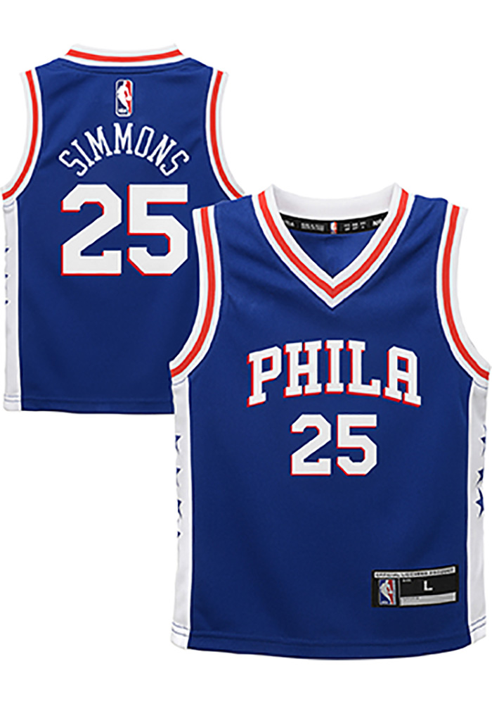 Ben Simmons Outer Stuff Philadelphia 76ers Toddler Blue 2018 Road Jersey Basketball Jersey - Image 3