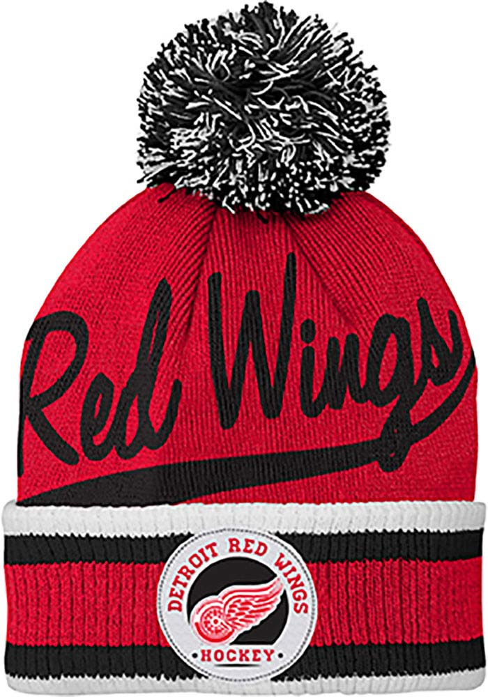 Detroit Red Wings Red Legacy Youth Knit Hat - Image 1
