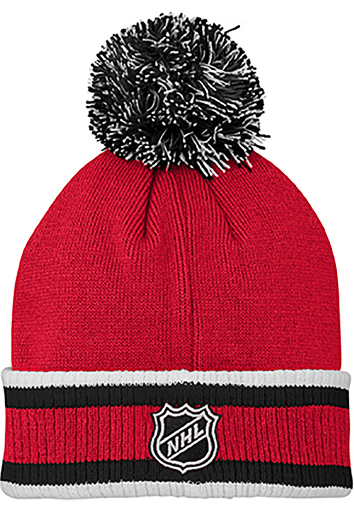 Detroit Red Wings Red Legacy Youth Knit Hat - Image 2