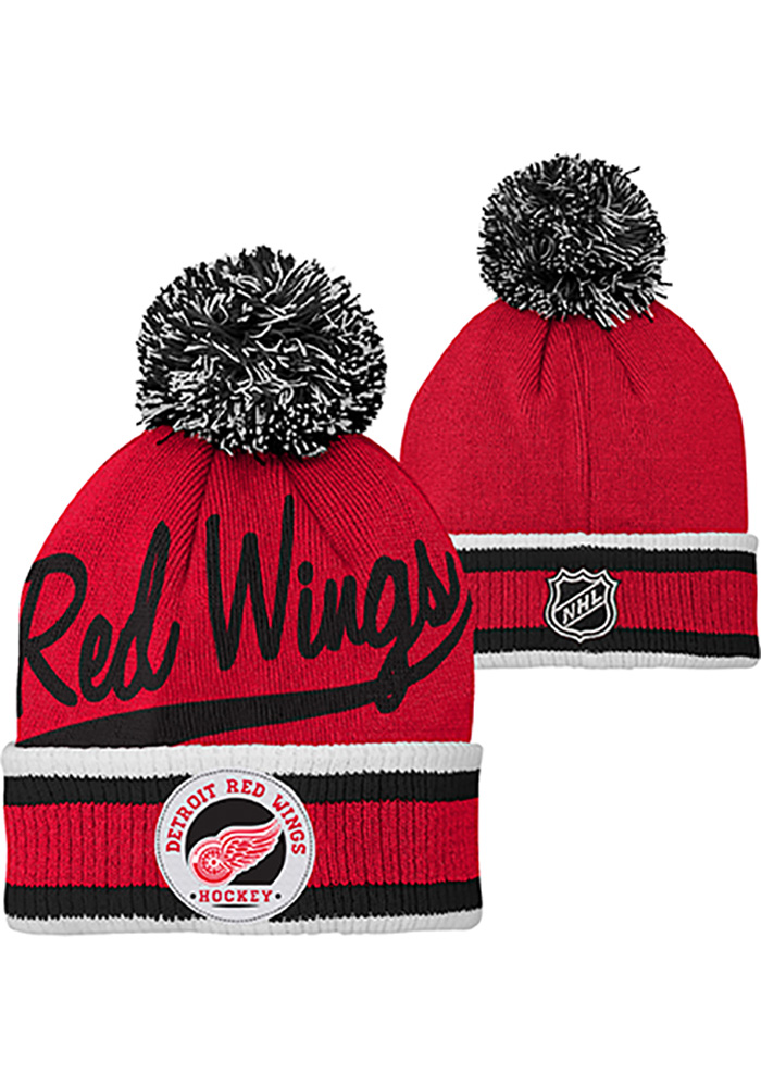 Detroit Red Wings Red Legacy Youth Knit Hat - Image 3