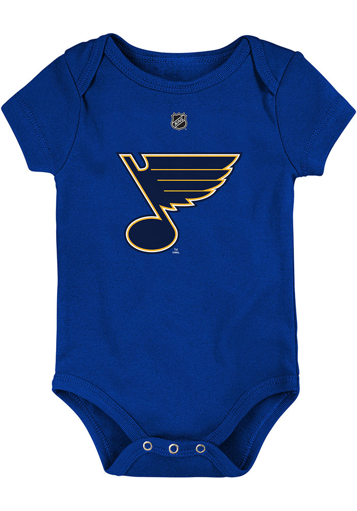 St Louis Blues Baby Blue Primary Logo Short Sleeve One Piece - Image 1