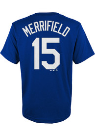 sports shoes f5aad 2e62c Whit Merrifield Outer Stuff Kansas City Royals Youth N&N Blue Player Tee