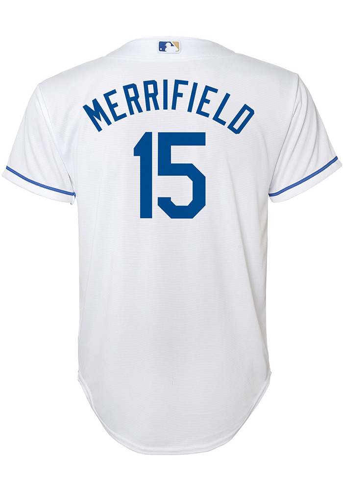 Whit Merrifield Outer Stuff Kansas City Royals Youth White Home Jersey 13348793