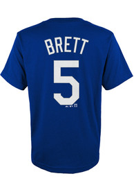 George Brett Kansas City Royals Youth Name and Number T-Shirt - Blue