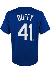 Danny Duffy Kansas City Royals Youth Name and Number T-Shirt - Blue