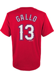 Joey Gallo Texas Rangers Youth Name and Number T-Shirt - Red