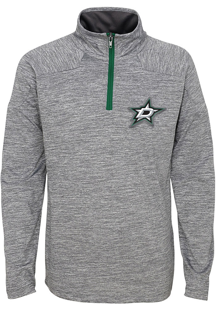 Dallas Stars Youth Grey Primary Long Sleeve Quarter Zip Shirt - Image 1