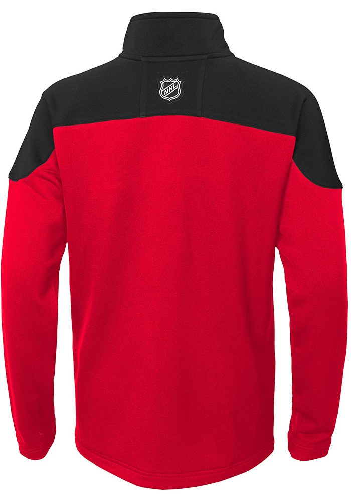 Detroit Red Wings Youth Red Pimary Long Sleeve Quarter Zip Shirt - Image 2