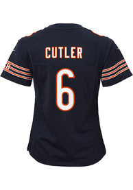 Jay Cutler Chicago Bears Girls Nike Replica Game Football Jersey - Navy Blue