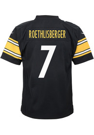 Ben Roethlisberger Pittsburgh Steelers Youth Nike Replica Game Football Jersey - Black