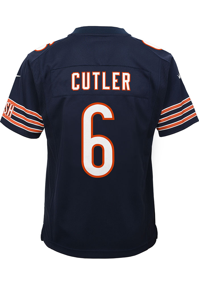 Jay Cutler Chicago Bears Youth Replica Game Football Jersey - Navy Blue