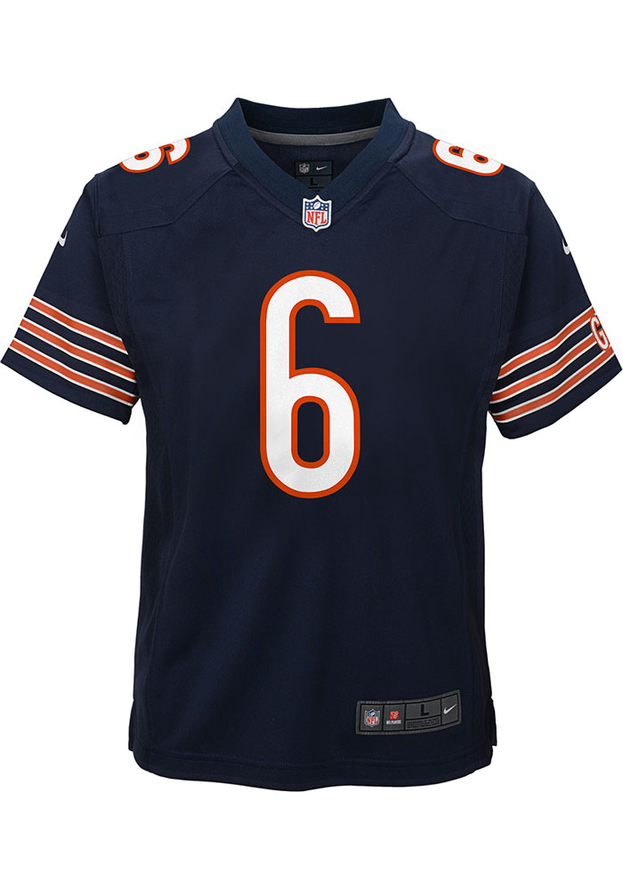 Jay Cutler Chicago Bears Youth Navy Blue Replica Game Football Jersey - Image 2