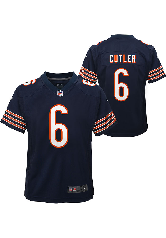 Jay Cutler Chicago Bears Youth Navy Blue Replica Game Football Jersey - Image 3