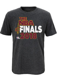 Cleveland Cavaliers Youth Charcoal Bold Finish T-Shirt