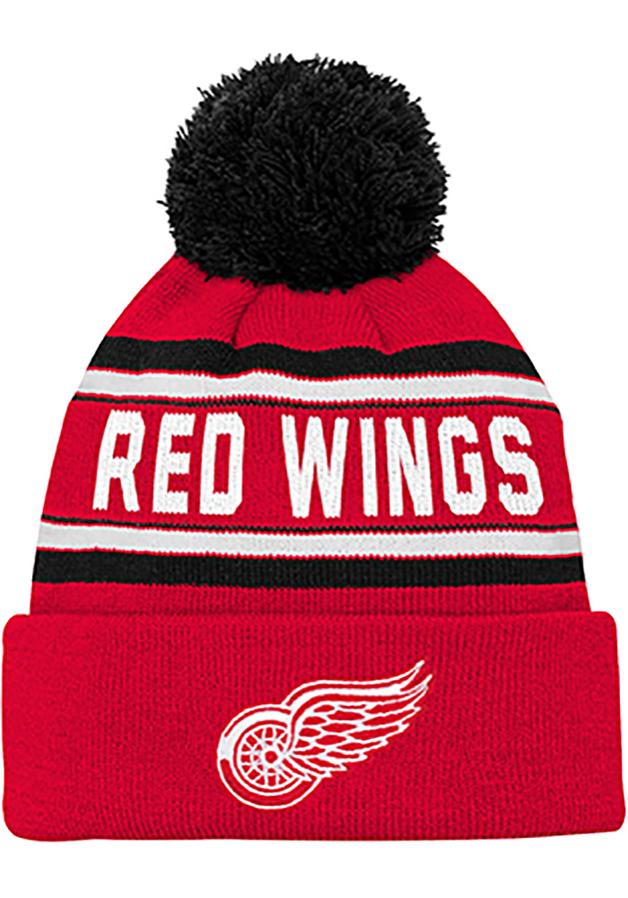 Detroit Red Wings Red Wordmark Youth Knit Hat - Image 1