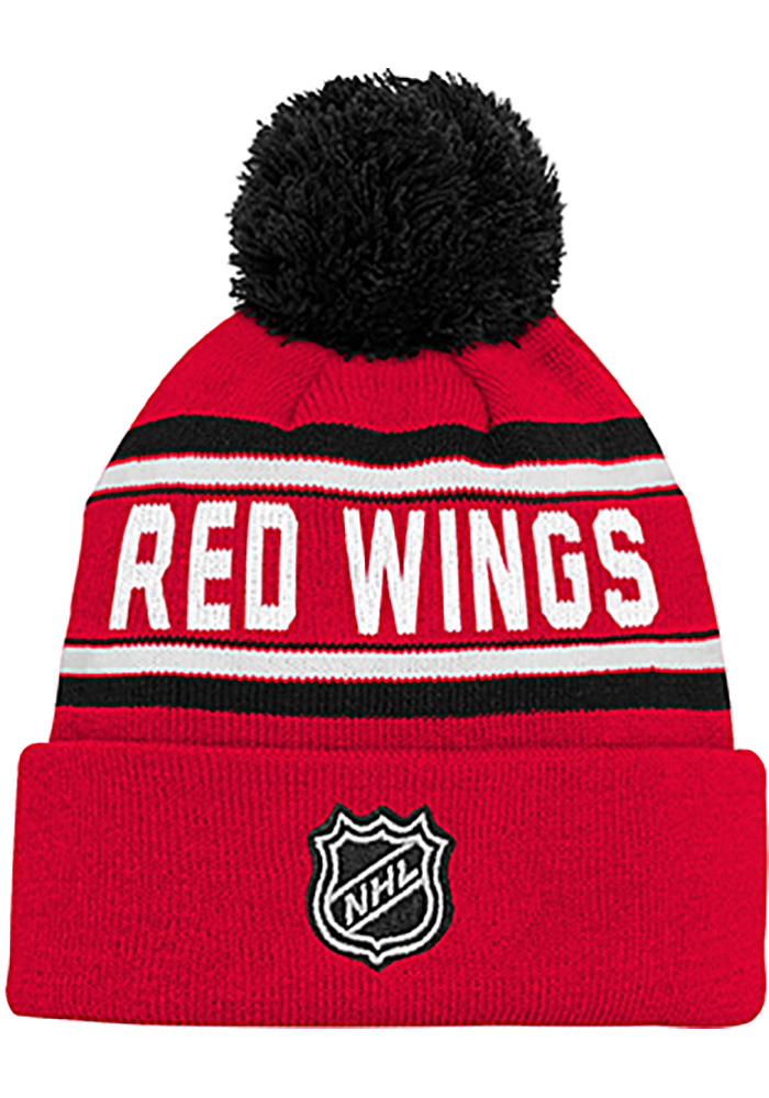 Detroit Red Wings Red Wordmark Youth Knit Hat - Image 2