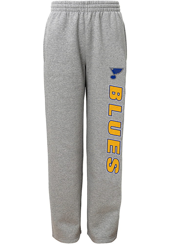 St Louis Blues Boys Grey Post Game Sweatpants - Image 1