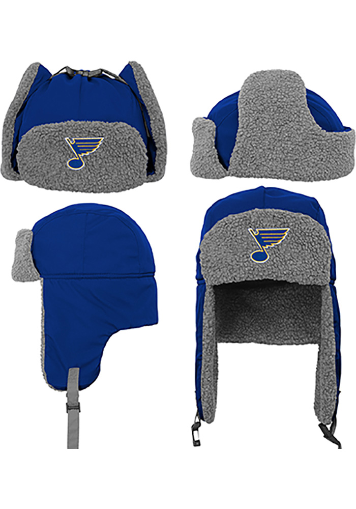 St Louis Blues Blue Winter Youth Knit Hat - Image 4