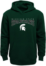 Michigan State Spartans Youth Fadeout Hooded Sweatshirt - Green