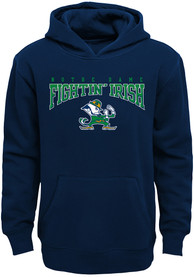Notre Dame Fighting Irish Youth Fadeout Hooded Sweatshirt - Navy Blue